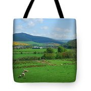 Innerleithen And Tweed Valley Looking East Tote Bag