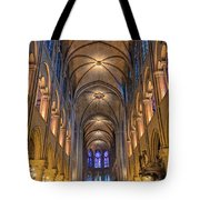 Interior Of Notre Dame De Paris Tote Bag