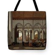 Interior Of The Oude Kerk  Amsterdam  Tote Bag