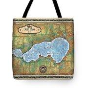 Iowa Clear Lake Custom Map Custom Map Art Tote Bag