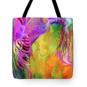 Iris Psychedelic  Tote Bag by Cindy Greenstein