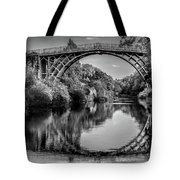 Iron Bridge Shropshire  Tote Bag by Adrian Evans