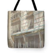 Iron Frame House With Glazed Earthenware  Tote Bag