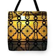 Iron Lattice Pattern St Malo Sunset Tote Bag