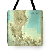Island Of Luzon - Old Cartographic Map - Antique Maps Tote Bag