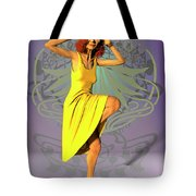 Jacinta In Yellow Tote Bag