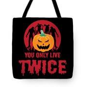 Jackolantern Scary Ghost Zombie Pumpkin Halloween Dark Tote Bag