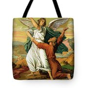 Jacob Wrestiling With The Angel  Tote Bag