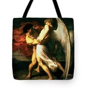 Jacob Wrestling With The Angel, 1865  Tote Bag