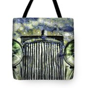Jaguar Car Van Gogh Tote Bag
