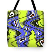 Janca Yellow And Blue Wave Abstract, Tote Bag