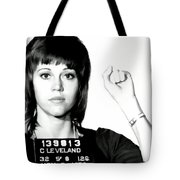 Jane Fonda Mug Shot Tote Bag