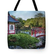 Japanese Garden #2 - Pagoda And Red Bridge Tote Bag