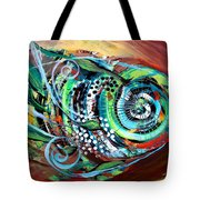 Jazzy Fish Trying For Busk At Dusk Tote Bag