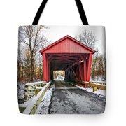 Jericho Covered Bridge Snow Tote Bag