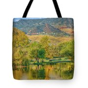 Jerome Reflected In Deadhorse Ranch Pond Tote Bag
