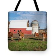 Jersey Steer Is A Curious Beast Tote Bag