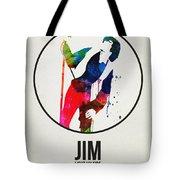 Jim Watercolor Poster Tote Bag