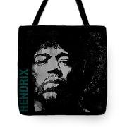 Jimi Hendrix - Retro Black  Tote Bag