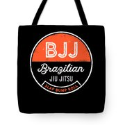 Jiu Jitsu Design Bjj Slap Bump Roll Orange Light Jiujitsu Gift Tote Bag
