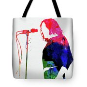 Joe Cocker Watercolor Tote Bag