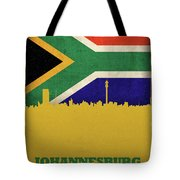 Johannesburg South Africa World City Flag Skyline Tote Bag