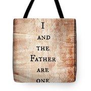 John 10 30 Tote Bag