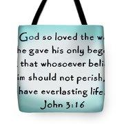 John Three Sixteen Tote Bag
