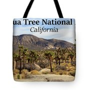 Joshua Tree National Park Valley, California Tote Bag