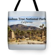 Joshua Tree National Park Valley, California Tote Bag