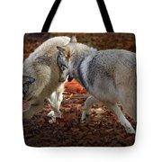 Joyful Wolves Tote Bag