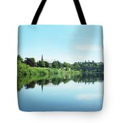 Junction Pool And View Of Tweed At Kelso Tote Bag