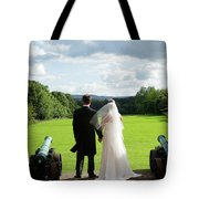Just Married Looking To The Future Tote Bag