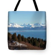 Kachemak Bay And Homer Alaska Tote Bag