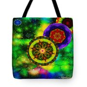 Kaleidoscope Moon For Children Gone To Soon Number - 3 Intensified  Tote Bag