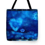 Kaleidoscope Moon For Children Gone Too Soon Number - 4 Cerulean Valentine  Tote Bag