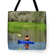 Kayaker In The Wild Tote Bag