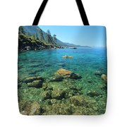Kayaker's Bliss  Tote Bag by Sean Sarsfield