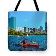 Kayaking On The Charles Tote Bag
