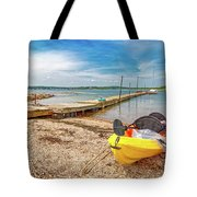 Kayaking To Goat Island Maine Tote Bag