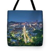 Keelung City Skyline Tote Bag