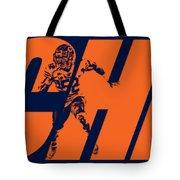 Khalil Mack Chicago Bears City Art Tote Bag