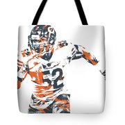 Khalil Mack Chicago Bears Pixel Art 30 Tote Bag