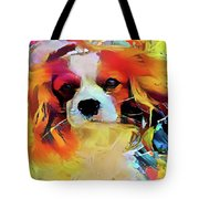 King Charles Spaniel On The Move Tote Bag