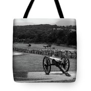 King William Artillery Marker In Black And White Gettysburg Tote Bag