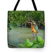 Kingfisher In The Mangroves Tote Bag