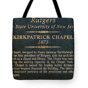 Kirkpatrick Chapel - Commemorative Plaque Tote Bag