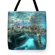 Kissing Turtle Tote Bag