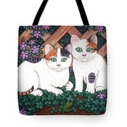Kittens And Clover Tote Bag