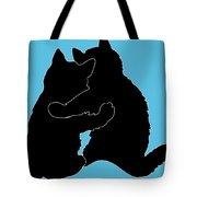 Kitty Hugs Tote Bag by Ericamaxine Price